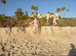 beach jumping