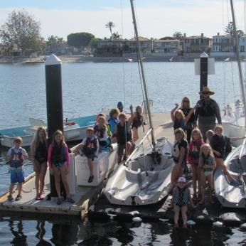 group shot sailing